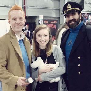 Gemini H. at NYCC 2016 with Tintin, Milou, and Captain Haddock
